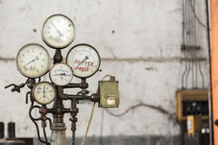 Old rusty industrial gauges Royalty Free Stock Images