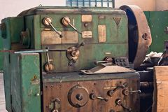 Old rusty industrial machines Royalty Free Stock Image
