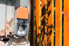Old and rusty iron car. Stock Images