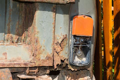 Old and rusty iron car. Stock Image