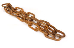 Old rusty iron chain Royalty Free Stock Photo