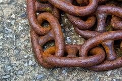 Old rusty iron chains Royalty Free Stock Photo