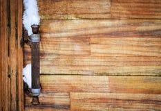 Old rusty iron door handle Royalty Free Stock Photo