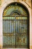 Old rusty iron  door Stock Images