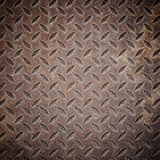 Old rusty iron drain grid. Stock Photos