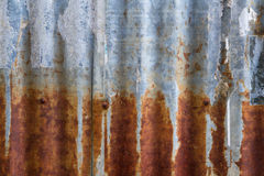 Old and rusty iron galvanise plate on house textures and color f Stock Images