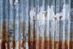 Old and rusty iron galvanise plate on house textures and color f Royalty Free Stock Photography