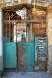 Old rusty iron gate Stock Photos