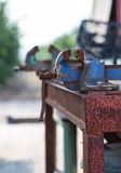 Old rusty iron grip Royalty Free Stock Image