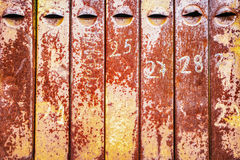 Old rusty iron mailboxes Stock Photos