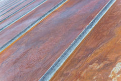 Old rusty iron metal roof. Royalty Free Stock Photo