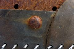 The old rusty iron parts. Texture Stock Images
