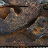 The old rusty iron parts. Texture Stock Image