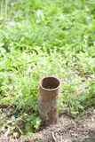 Old rusty iron pipe Royalty Free Stock Images