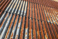The old and rusty iron roof of a building Royalty Free Stock Photography