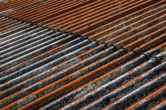 The old and rusty iron roof of a building Royalty Free Stock Photo