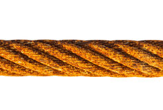 Old rusty iron rope on white background Stock Photography