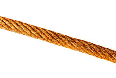 Old rusty iron rope on a white background Royalty Free Stock Images