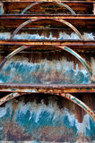 Old rusty iron staircase Royalty Free Stock Photography