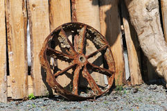 The old rusty iron wheel Royalty Free Stock Image