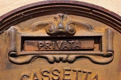 Old and Rusty Italian Mailbox Royalty Free Stock Photo