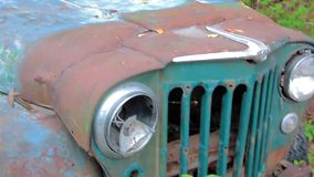 Old Rusty Jeep stock video