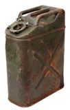 Old rusty jerrycan Royalty Free Stock Photos