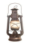 Old rusty kerosene lamp Stock Image