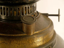 Old rusty kerosene lamp. Stock Photo