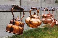 Old rusty  kettles Stock Photos
