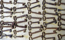 Old rusty key collection Stock Photo