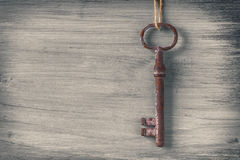 Old rusty key Stock Images