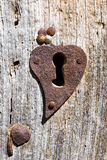 Old rusty keyhole on the door Stock Photography