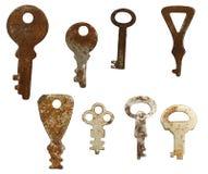 Old rusty keys Royalty Free Stock Photo