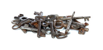 Old rusty keys Stock Photos