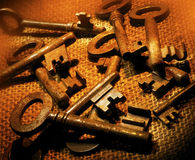 Old Rusty Keys Stock Image