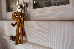Old rusty keys Stock Images