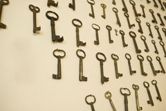 Old rusty keys Royalty Free Stock Image