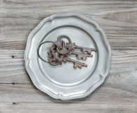 Old rusty keys Royalty Free Stock Images