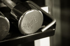 Old rusty 10kg dumbell Royalty Free Stock Photo