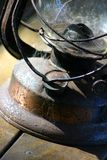 Old Rusty Lantern. Rusty old kerosene lantern Royalty Free Stock Image