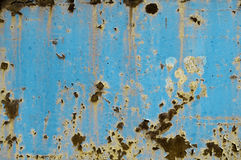Old rusty light blue metal background Stock Image