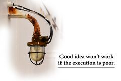 Good idea won`t work if execution is poor stock image