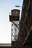 Old Rusty Loading Tower, Train Transport, Prague, Europe Royalty Free Stock Photography