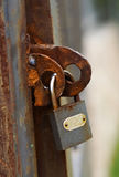 The old rusty lock Stock Photos