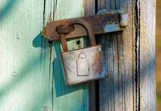Old rusty lock Stock Photo