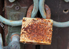 Old rusty lock Stock Photo