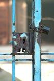 Old rusty lock, grunge gate Stock Image