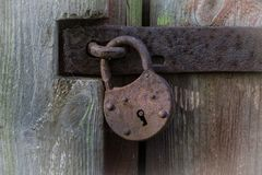 Old rusty lock stock photography
