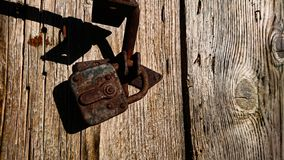 Free Old Rusty Lock On A Ancient Door Stock Images - 165375634
